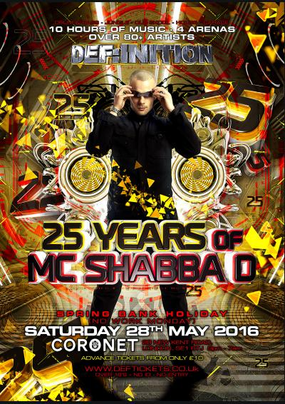 DEF:INITION present 25 YEARS OF SHABBA D