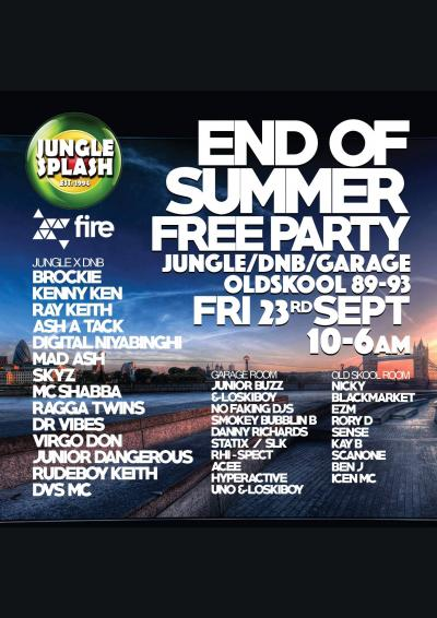 Jungle Splash End of Summer Free Party