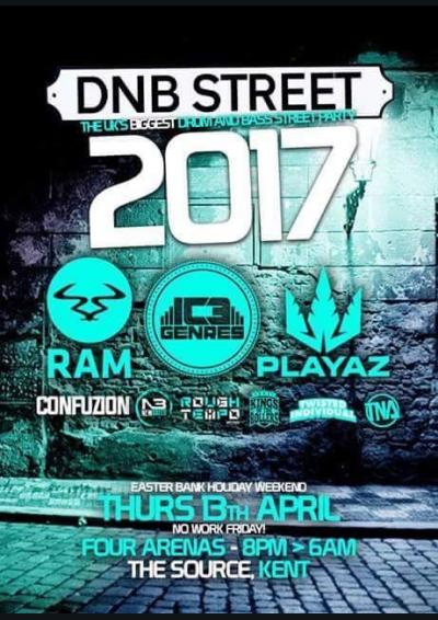 DNBST V - THE UK'S BIGGEST DNB STREET PARTY  Poster