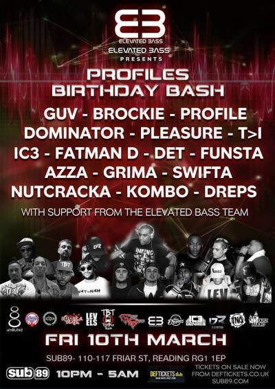 ELEVATED BASS presents PROFILE'S BIRTHDAY BASH
