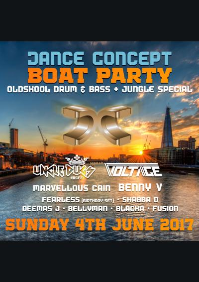 Dance Concept Boat Party - Oldskool DnB / Jungle Special Poster