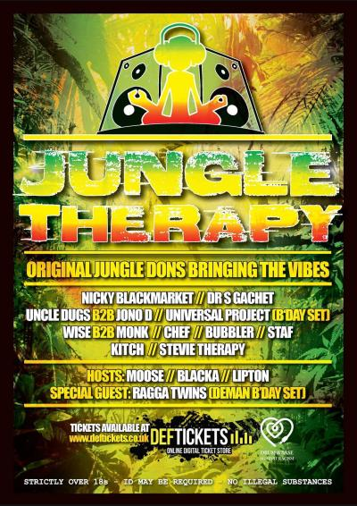 JUNGLE THERAPY BDAY BASH Poster