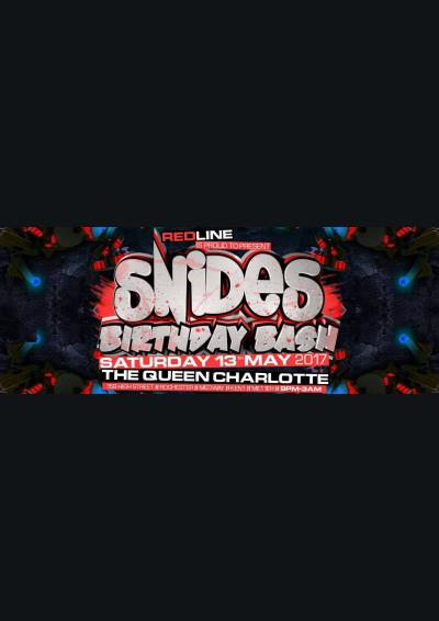 Redline Presents: Snides Birthday Bash Poster