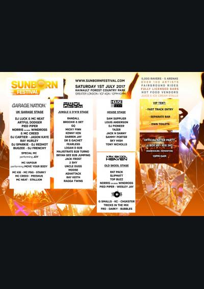 SUNBORN FESTIVIAL / AWOL in the Park Poster