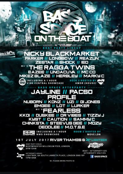 BASS SPACE ON THE BOAT + LIGHTBOX AFTERPARTY
