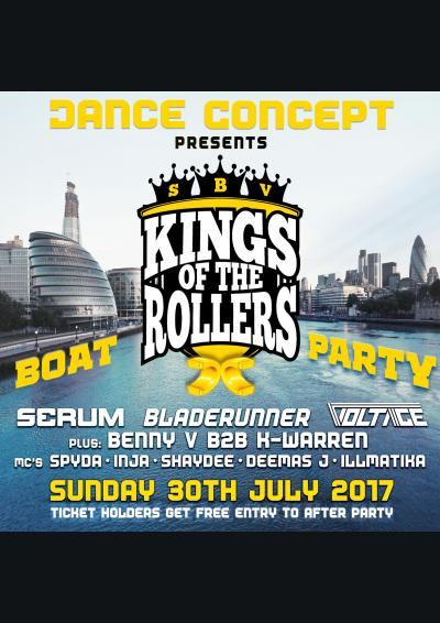 Kings Of The Rollers Boat Party - Presented by Dance Concept