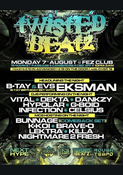 Twisted Beatz presents: B-TAYs Birthday Bash