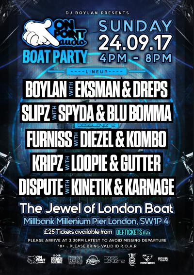 The On Point Audio Boat Party  Poster