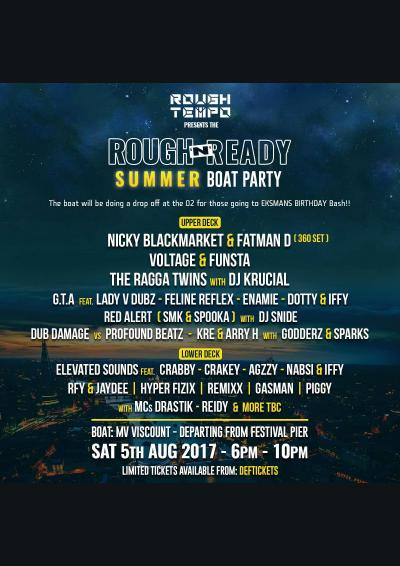 Rough Tempo Presents - The Rough N Ready Summer Boat Party