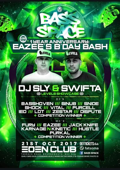 BASS SPACE 1 YEAR: EAZEE's BDAY BASH