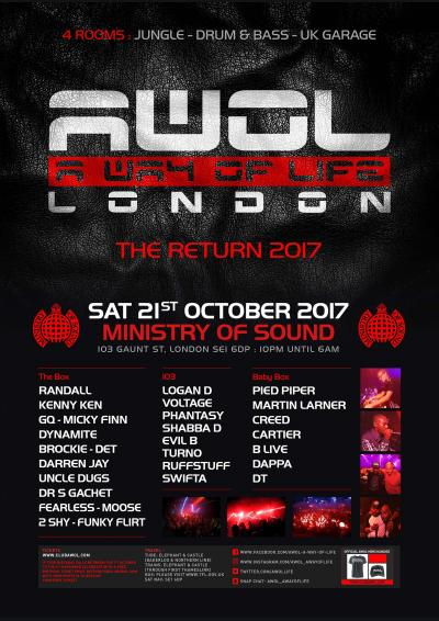 AWOL A Way Of Life The Return 2017 Poster