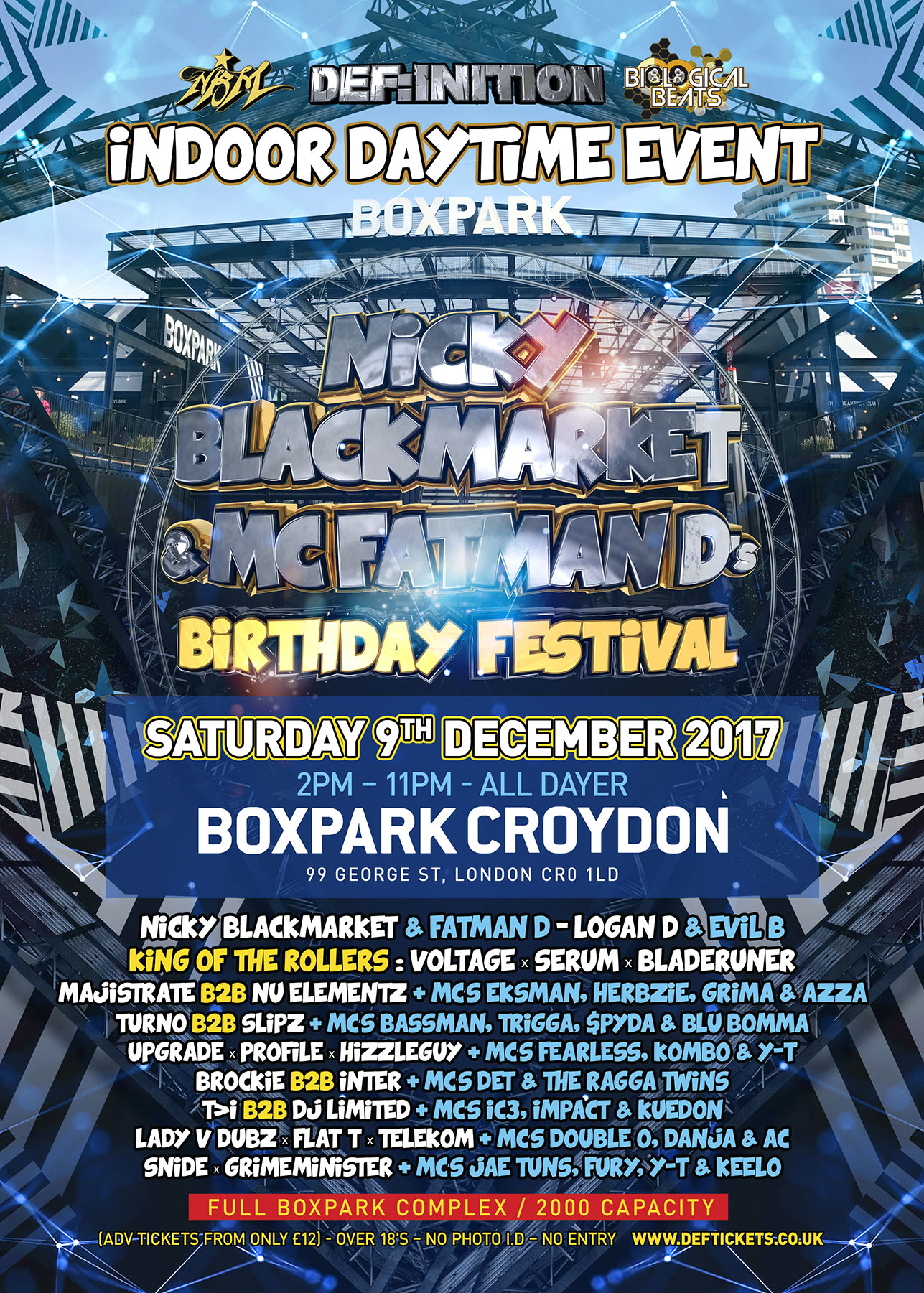 NICKY BLACKMARKET & FATMAN D'S BIRTHDAY FESTIVAL