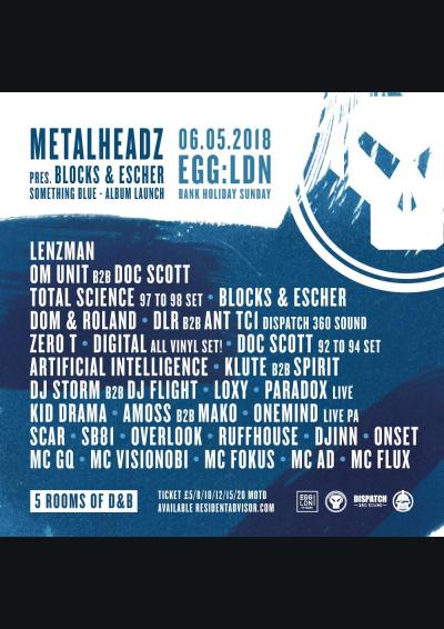 Metalheadz at Egg - 5 Rooms of D&B