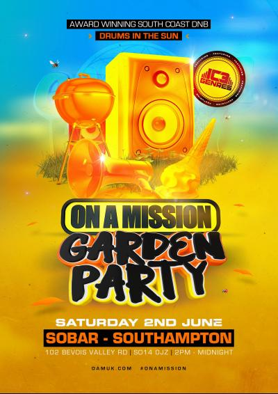 ON A MISSON  GARDEN PARTY 2018 Poster