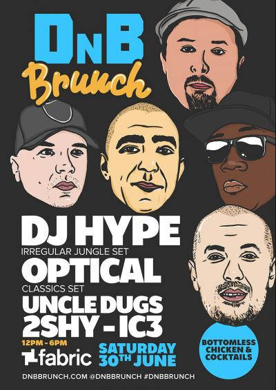DnB Brunch with DJ HYPE, OPTICAL, UNCLE DUGS, 2SHY & IC3