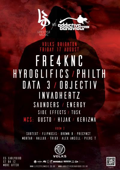 Lifestyle Music VS Addictive Behaviour @ Volks, Brighton - 17th August