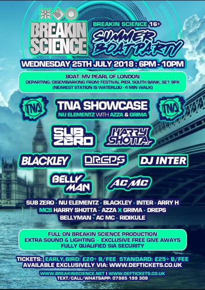 Breakin Science Summer Boat Party 16+