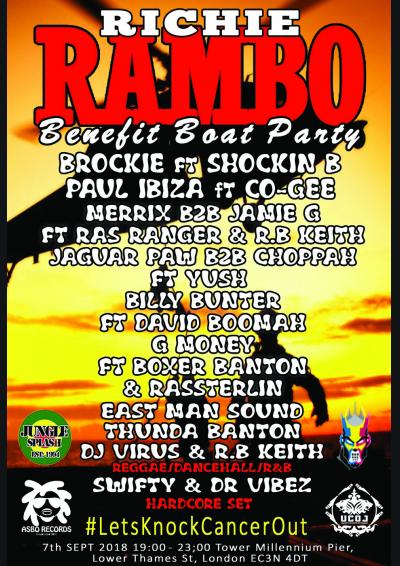 ASBO Recs & UCOJ Presents: Richie Rambo's Benefit Boat Party