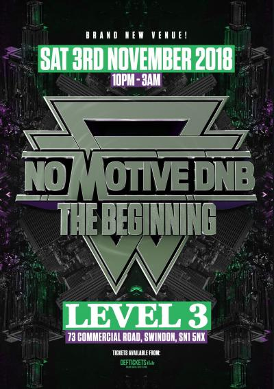 NO MOTIVE DNB - THE BEGINNING Poster