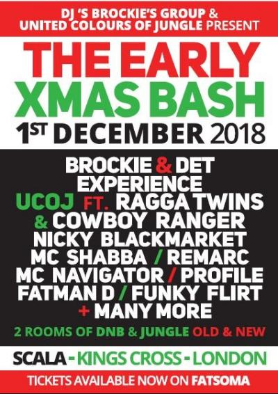 UCOJ MEETS DJBG early XMas Bash  Poster
