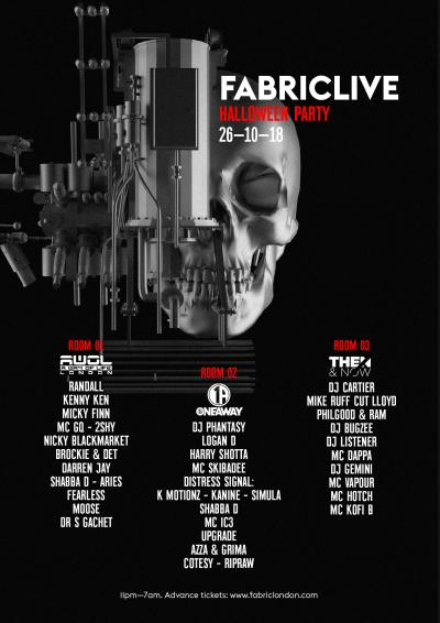 FABRICLIVE Halloween Party: AWOL, Oneaway, Then & Now Poster