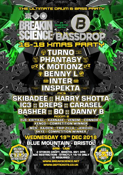 Breakin Science & Bassdrop Bristol : 16-18 Xmas Party