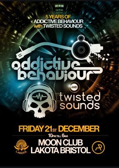 5 Years of Addictive Behaviour with Twisted Sounds Poster