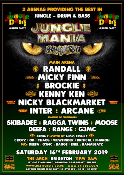 JUNGLE MANIA BRIGHTON - JUNGLE DAM LAUNCH PARTY