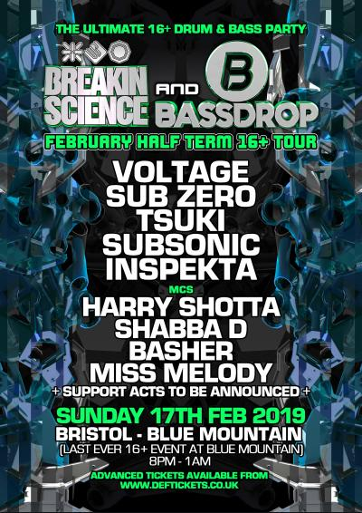 Breakin Science & Bassdrop  : 16+ Half Term Party - Bristol