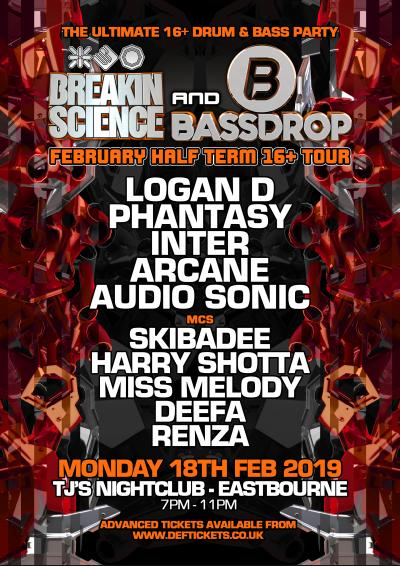 BREAKIN SCIENCE & BASSDROP 16+ HALF TERM PARTY - EASTBOURNE