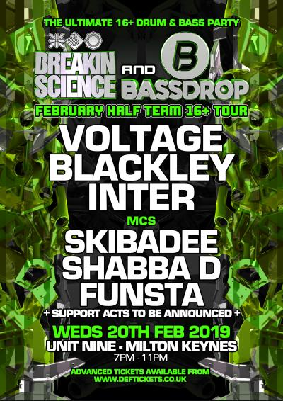 BREAKIN SCIENCE & BASSDROP : 16+ HALF TERM PARTY - MILTON KEYNES