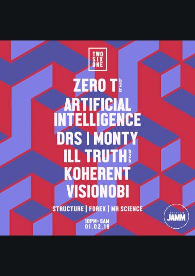 Zero T b2b Artificial Intelligence, DRS, Monty, Ill Truth b2b Koherent, Visionobi