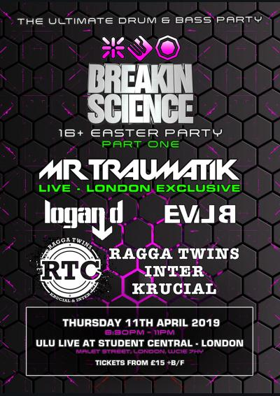 BREAKIN SCIENCE  16+  EASTER PARTY - PART 1