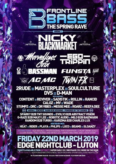 Frontline Bass - The Spring Rave  Poster