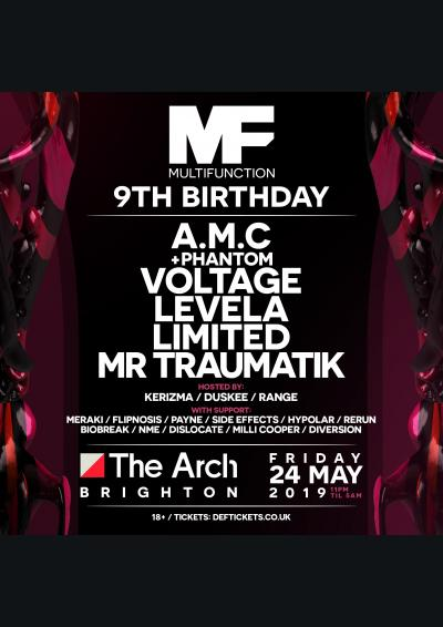 Multi Function 9th Birthday @ The Arch, Brighton