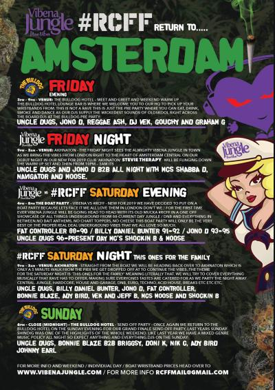 #RCFF and Vibena Jungle Goes To Amsterdam Weekender Chapter 2 Poster