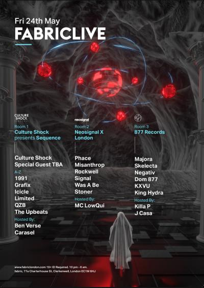 FABRICLIVE: Culture Shock presents Sequence, Neosignal & 877 Poster