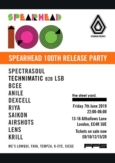 Spearhead presents - SpectraSoul, Technimatic, BCee, LSB & More