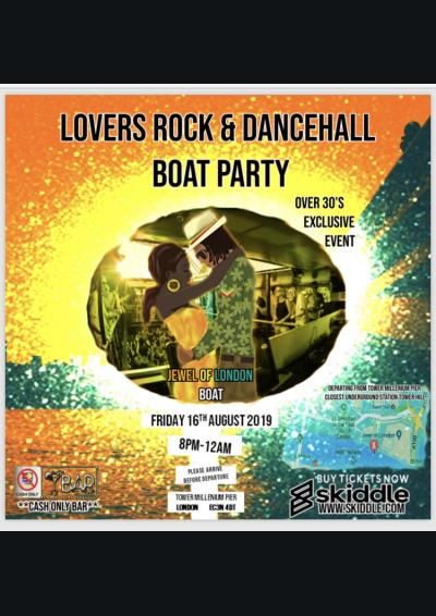 Over 25's Lovers Rock and Dancehall Boat Party