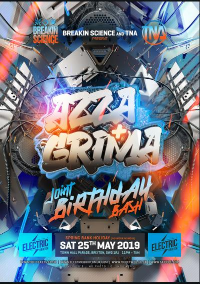AZZA X GRIMA : JOINT BIRTHDAY BASH 2019 : LONDON Poster