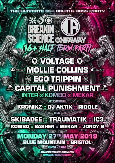 BREAKIN SCIENCE & ONEAWAY 16+ HALF TERM PARTY - BRISTOL