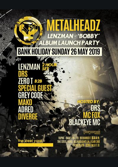 Metalheadz London - Lenzman, DRS, Zero T
