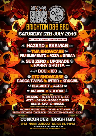BREAKIN SCIENCE x WAH present BRIGHTON D&B BBQ