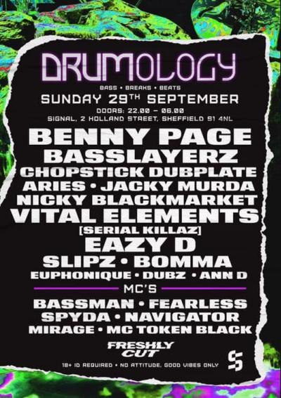 Drumology: Benny Page, Nicky Blackmarket, Vital Elements & more Poster