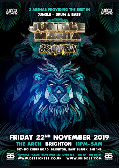 JUNGLE MANIA BRIGHTON Poster