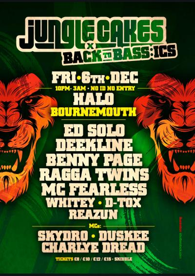 Jungle Cakes x Back To Bass:ics Poster