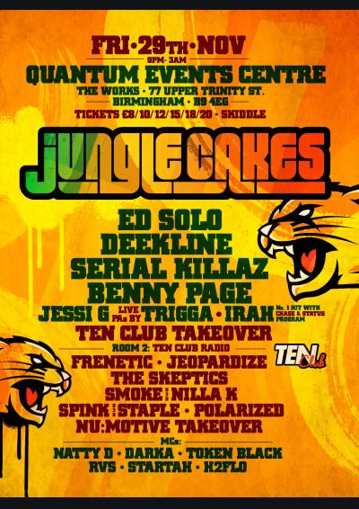 Jungle Cakes: Ed Solo, Deekline, Serial Killaz, Benny Page