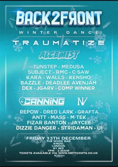 Back2Front Presents: TRAUMATIZE,  ALCEMIST, NV + more!