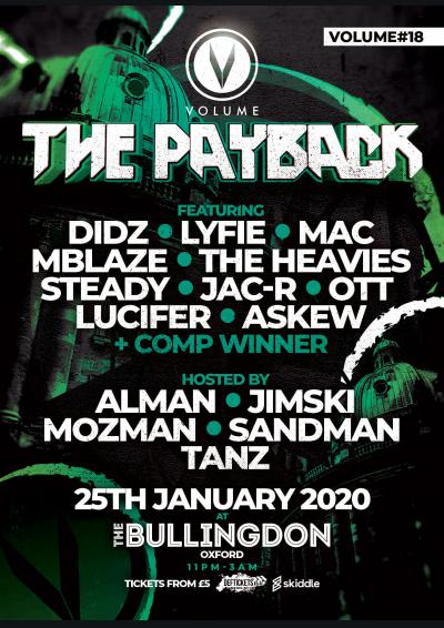 VOLUME DNB THE PAYBACK #18 Poster